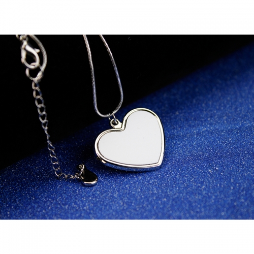 Custom Popular Sublimation Blank Heart Shaped Necklace