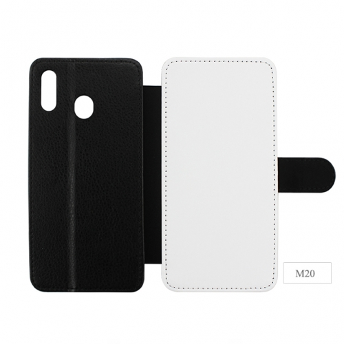 New Arrival Sublimation Blank leather Phone Case For Sam sung M20