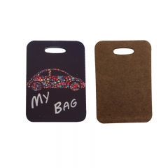 Wholesales Sublimation Blank MDF Luggage Tag