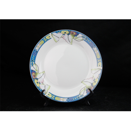 High Quality White Sublimation Blank 8'' Lotus Leaf Fringe Fringe Plate