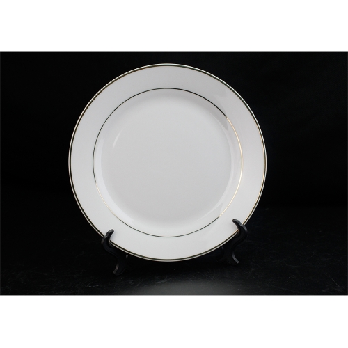 Wholesale Heat Transfer Blank Gold Rim Plate for dinner