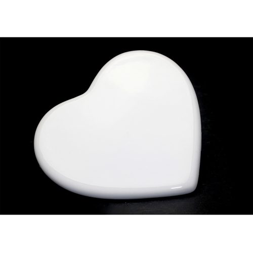 Personality Design Blank Sublimation Ceramic Heart Shape Tile