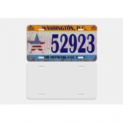 New Sublimation Blank Custom Car Aluminum License Plate