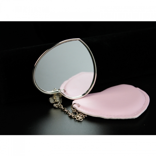 Popular Fashion Sublimation Blank Mirror With Leather Cover