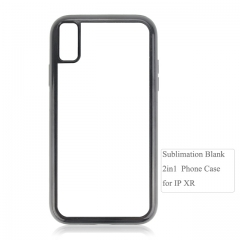 Durable  2D 2IN1 Sublimation blank phone case for iPhone XR