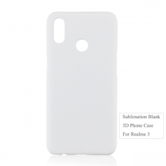 New Arrival 3D Printing Sublimation Blank PC Phone Case For OPPO Realme 3