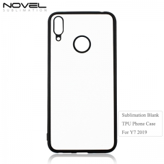 High Quality Custom Blank 2D Tpu Phone Back Cover For Huawei Y7 2019