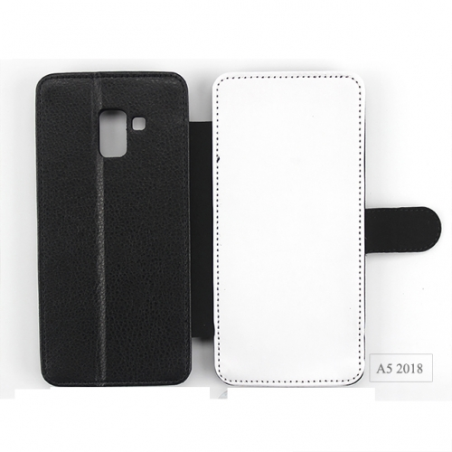 Double Protection Blank Sublimation Leather Phone Case For Sam sung A5 2018