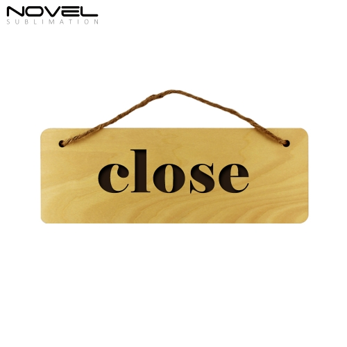New Fashion Sublimation Blank Custom Wooden Square Door Hanging