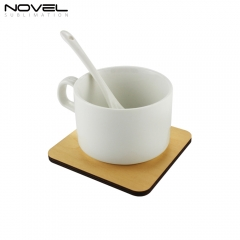 New Arrival practical Sublimation Wooden Cup Coaster On Hot Selling