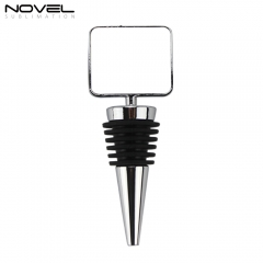 High Quality Custom Design Blank Metal Wine Bottle Stopper