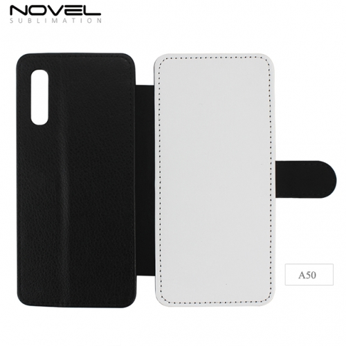 Double Protection Blank 2D Sublimation PU Leather Case For Sam sung Galaxy A50