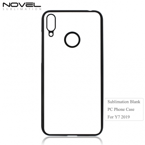 New Sublimation 2D Hard Plastic Phone Back Case For Huawei Y7 2019