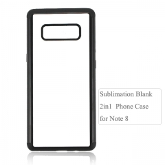 Hot Sellimg 2D 2IN1 Sublimation blank phone case for Galaxy Note 8