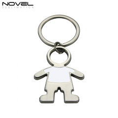 2019 Fashion Design Boy shape Metal Sublimation Blank Keychain
