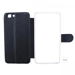 High Quality Blank PU Leather Phone Case For Vivo Y53