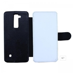 High Quality Sublimation Blank Flip PU Leather Phone Wallet For LG K7