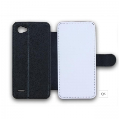 Wholesales Heat Transfer Blank PU Leather Phone Wallet For LG Q6