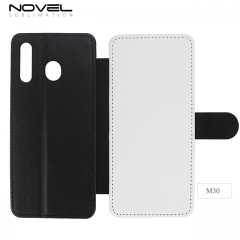 Double Protection Sublimation Blank PU leather Phone Case For Sam sung M30