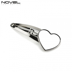 2019 Cute Hot Sale Simple Blank Heart Hairpin For Kids And Girl Hair Clip Pins