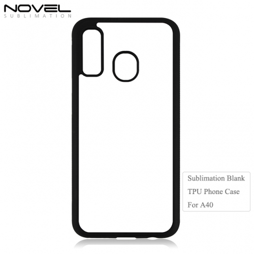 Mew Arrival Blank Printing 2D Soft Rubber Phone Case For Galaxy A40