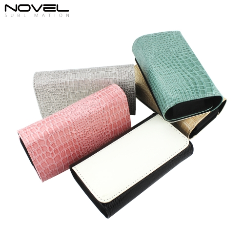 New Arrival Folding Crocodile PU Leather Stylish Eyeglass Case