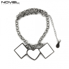 Personality Design Sublimation Blank Zinc Alloy Bracelet