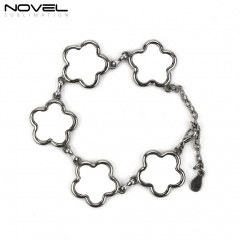 Fashionable Sublimation Bracelet, Blossom Shape With 5pcs