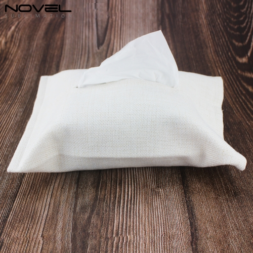 New Arrival Personality DIY Blank Sublimation Linen Tissue Box