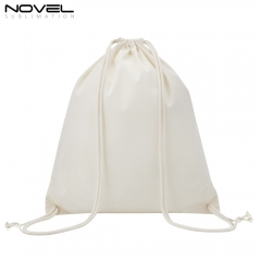 New Fashion Blank Printed Sublimation Linen Drawstring Backpack