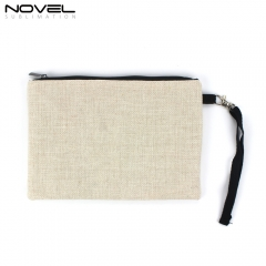 Newly Fashionable Convenient Blank Sublimation Cotton Linen Cosmetic Bag