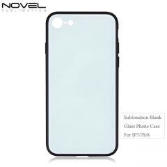 Sublimation Phone Case Blanks 2D Glass TPU Phone Case for iPhone 7.7S.8