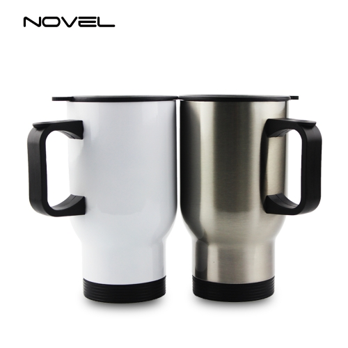 High Quality Printing Sublimation Blank Stainless Stee l14oz 450ml Car Mug