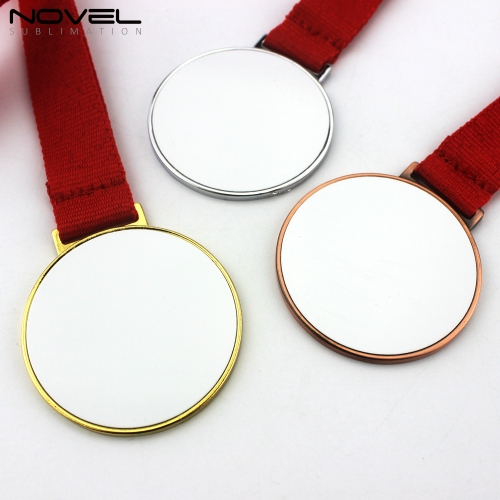DIY Zinc Alloy Metal Souvenir Sublimation Bronze Blank Awards Medal