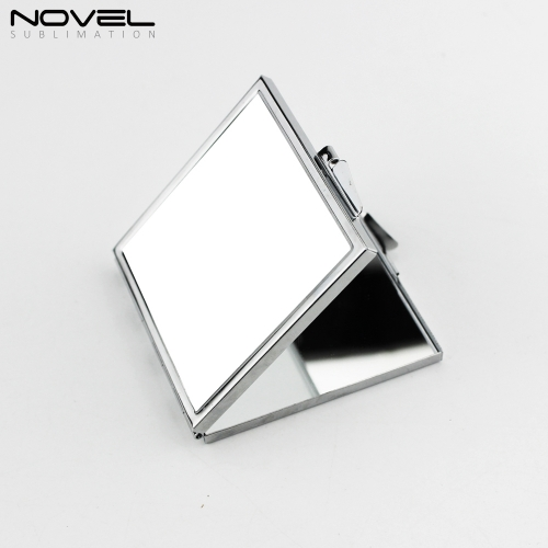 Portable Personality  Designs Sublimation Blank Stainless Steel Rectangle  Mirror with White Plate