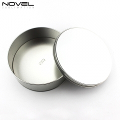Personality High Capacity Sublimation Printing Blank Metal Candy Round Tin