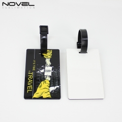 Sublimation Blank Rectangle MDF Double Side Luggage Tag on Hot Sales