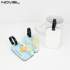 High Quality Double Side Printing Sublimation Blank MDF Luggage Tag