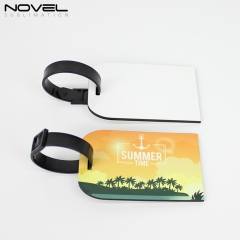 Personality  Double Side Heat Press Printing Blank MDF Luggage Tag