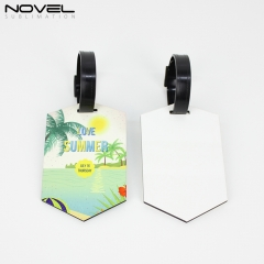 Customized Design Sublimation DIY Blank MDF Double Side Luggage Tag