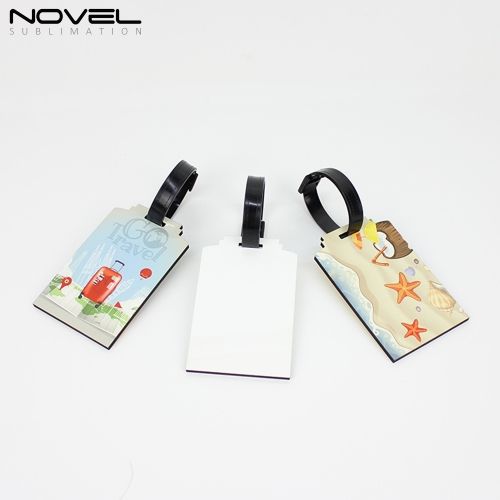 Fashion DIY Double Printing Sublimation Blank MDF Luggage Tag