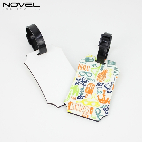 DIY Blank Sublimation Fashion MDF Double Side Luggage Tag