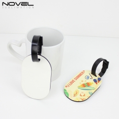 Sublimation DIY Blank MDF Double Side Luggage Tag