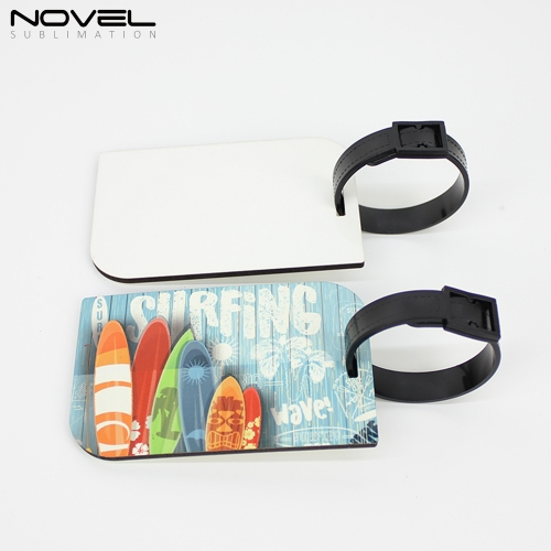 Fashion Sublimation Blank Diamond MDF Double Side Luggage Tag