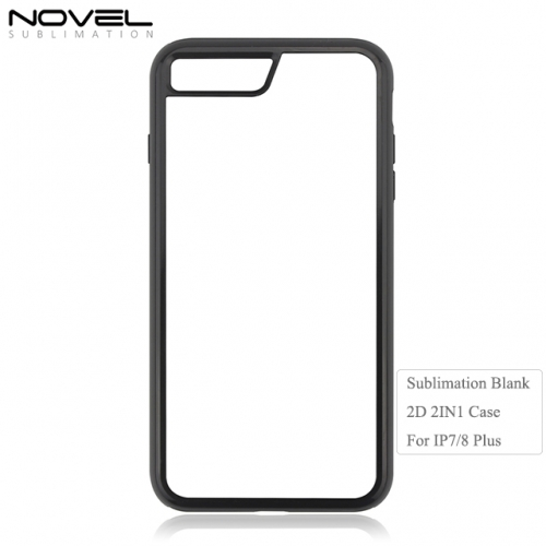 High Quality Double Protection Blank Sublimation 2IN1 Phone Case for iPhone 7 Plus