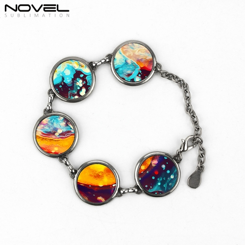Fashionable Round Custom Printing Blank Women Jewelry Bracelets