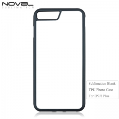 High Quality Sublimation 2D  Soft TPU Phone Case For IPhone 7 Plus