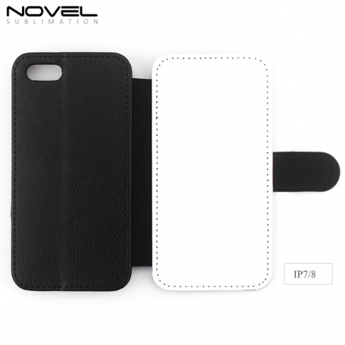 High Quality Blank Sublimation PU leather Wallet Case For iPhone 6