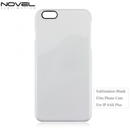 Factory Directly Sales Sublimation 3D Film Phone Case With Black Camera Hole For iPhone 6 Plus