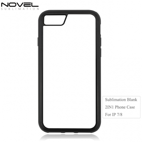 Sublimation Printing Protection Blank 2D 2IN1 Phone Case for iPhone 7